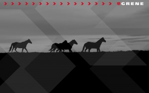 Grene tapeta konie